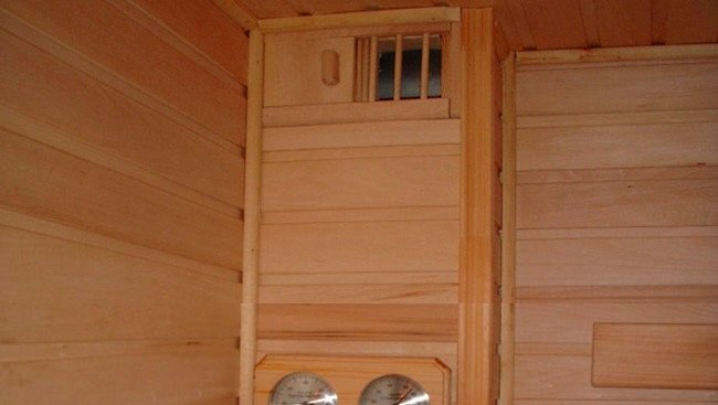 Природная вентиляция в бане