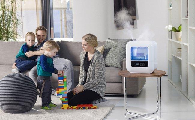 Пример того куда можно поставить увлажнитель воздуха в гостиной