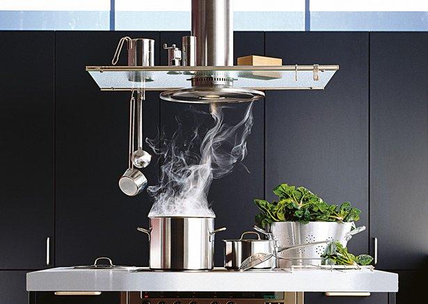 Кухонная вытяжка над плитой