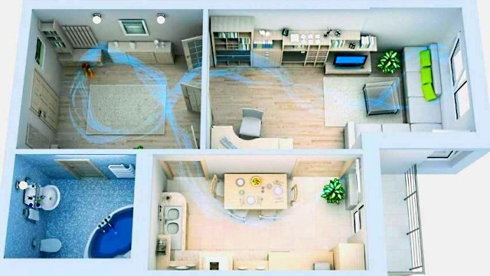 Естественный воздухообмен в квартире
