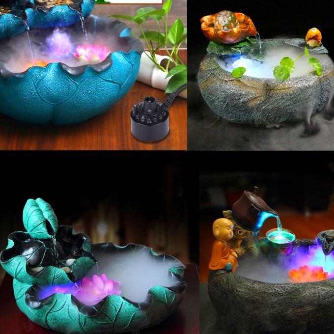 Декоративные фонтаны с подсветкой