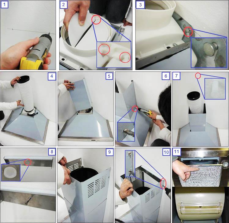 Как установить вытяжку на кухне своими руками фото 16