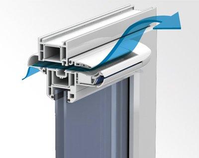 Приточный вентиляционный клапан на пластиковые окна установка устройство виды