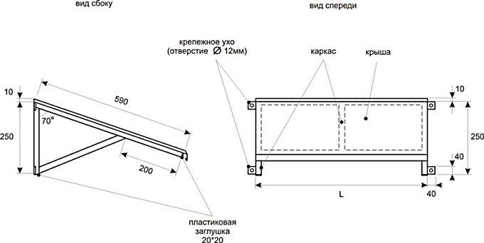 Размеры кронштейнов для кондиционера