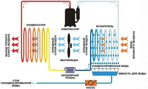 Устройство и принцип работы осушителя воздуха