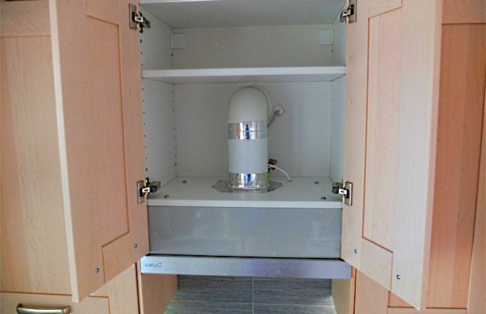 Вытяжка для кухни, установленная своими руками