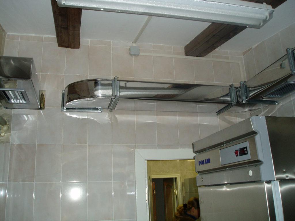 Воздуховода для кухонной вытяжки из металла