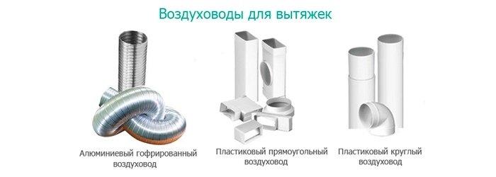 Виды воздуховодов для кухни