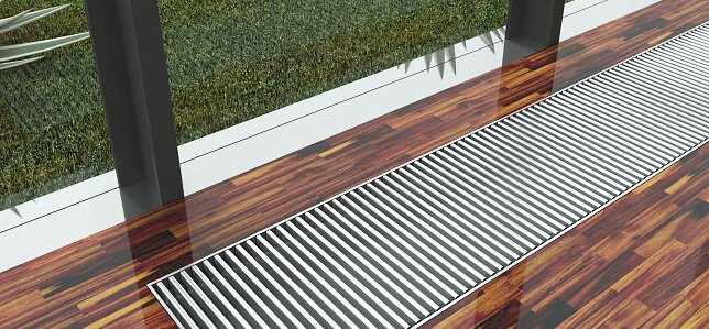 Алюминиевая решетка в интерьере