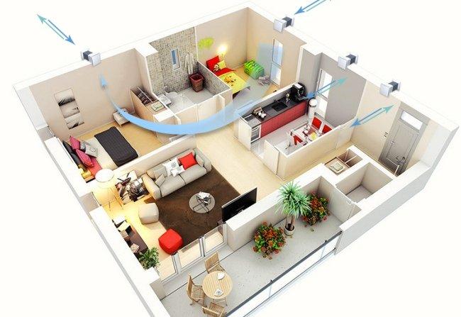 Бюджетная вентиляция в квартире с помощью бытовых рекуператоров