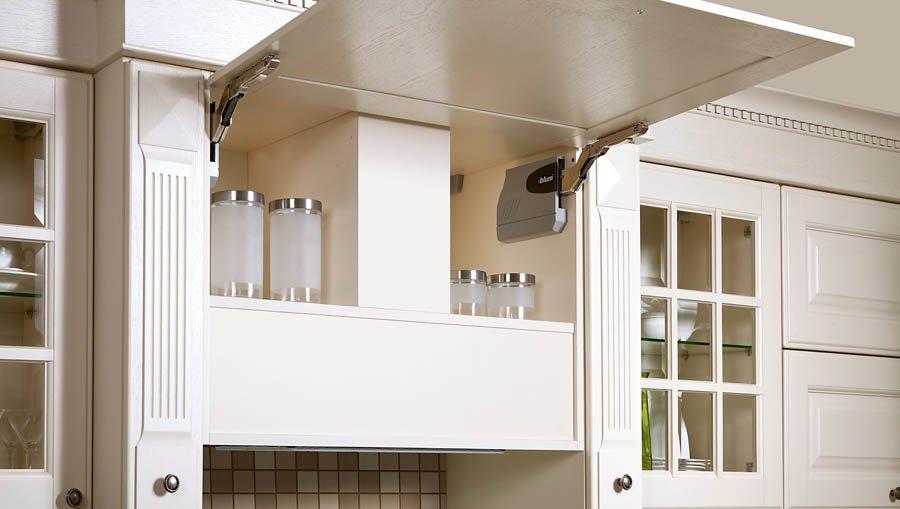 Незаметно встроенная кухонная вытяжка