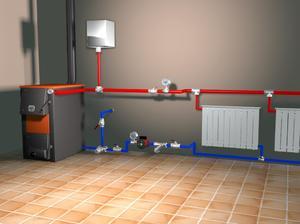Схема закрытой системы отопления с принудительной циркуляцией