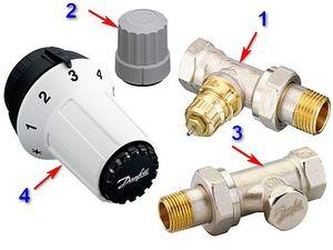 Термостатический клапан для радиатора отопления