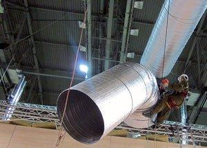 Монтаж гибких воздуховодов
