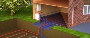Отопление дома с помощью тепла земли