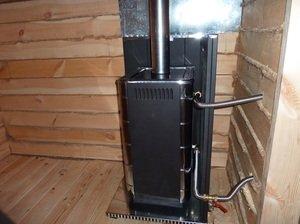 Теплообменник для нагрева воды в бане