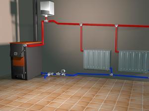 Принцип работы открытой системы отопления