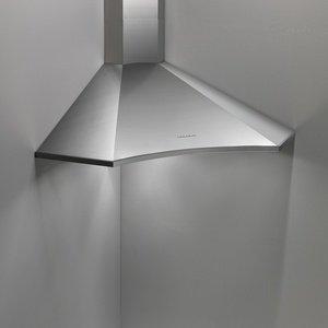 Размеры и комплектация угловых кухонных вытяжек