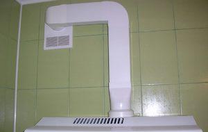 Вентиляция с пластиковым воздуховодом